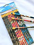 12 pcs Wooden Pencil Disney PIXAR Character Authentic Licensed School Party Bag Fillers (COCO)
