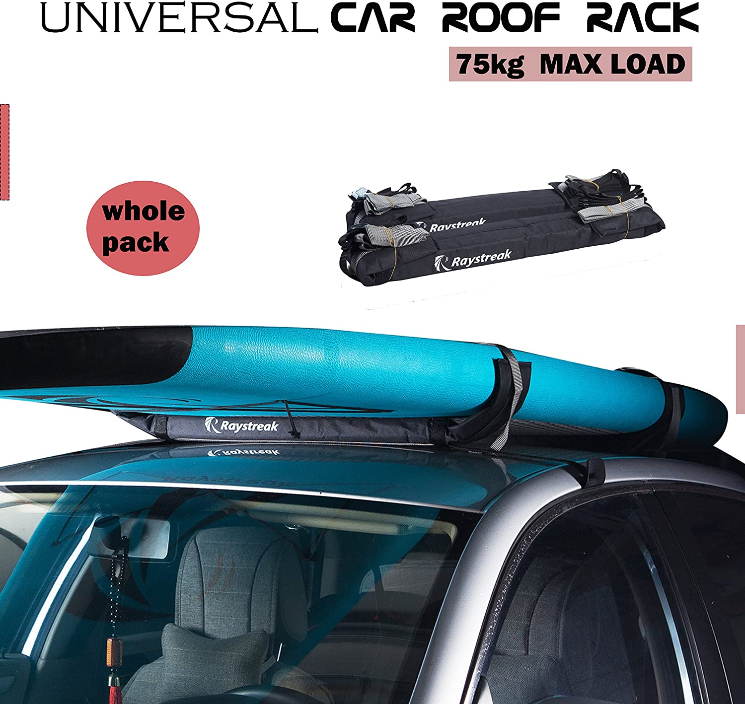 Universal Fit for Cars and SUVs Block Surf Surfboard Roof Rack