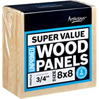 Artlicious Super Value Wood Panel Boards for Art Painting (8x8, Standard)