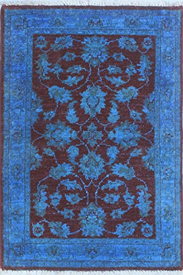 Noori Rug Teppich Nuri Handarbeit Bereich Teppich Wolle Blau