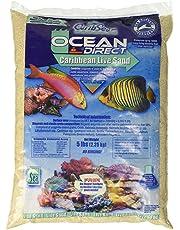 CaribSea ACS00905 Ocean Direct Natural Live Sand for Aquarium, 5-Pound