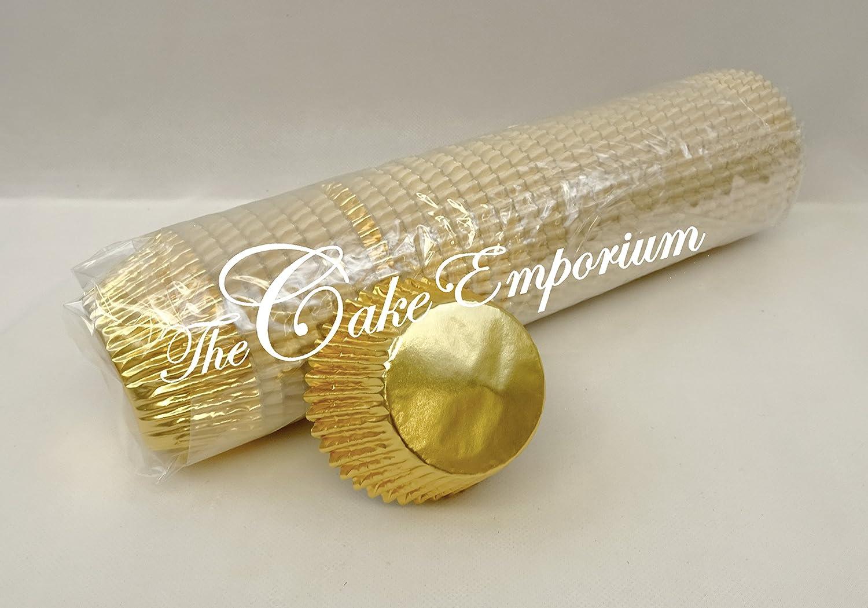 500 Bulk Buy Quality Professional Gold Cupcake / Muffin Foil Bun Cases The Cake Emporium Ltd