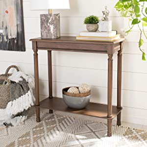 Safavieh Home Collection Tinsley Brown Rectangular Bottom Shelf Console Table