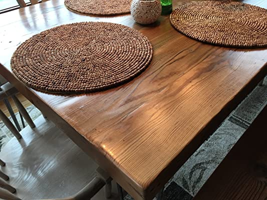 Reclaimed Wood Dining Table and Matching Bench Combo | Salvaged Barn wood | 2.50