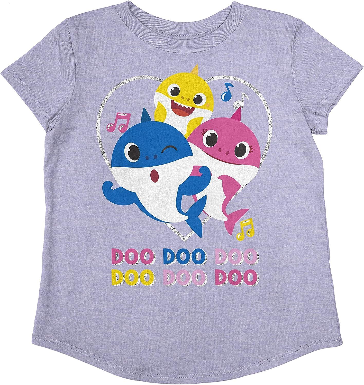 Jumping Beans Toddler Girls Baby Shark Doo Doo Family SS Tee