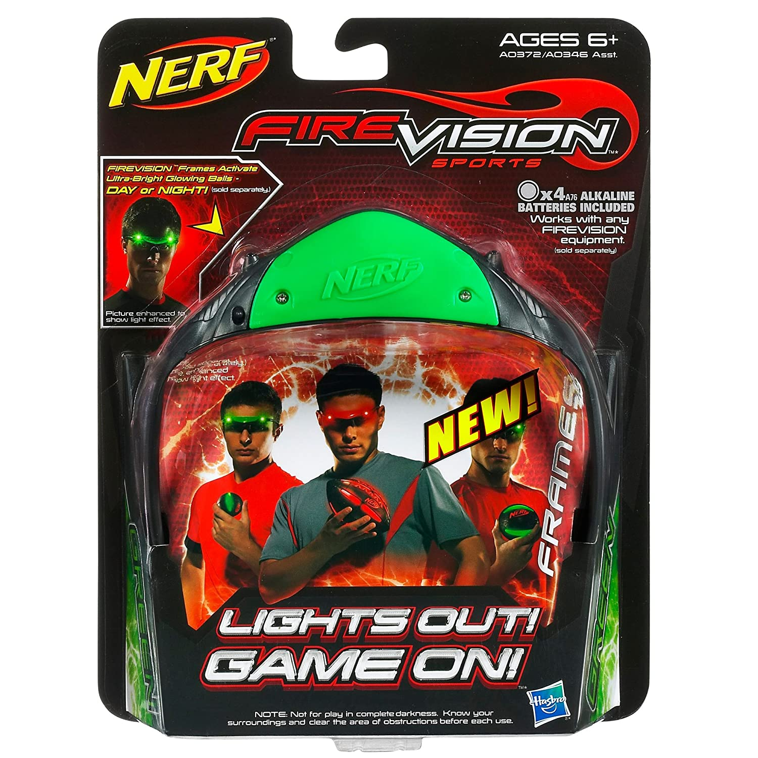 Amazon.com: Nerf Firevision Sports Frames (Green): Toys & Games