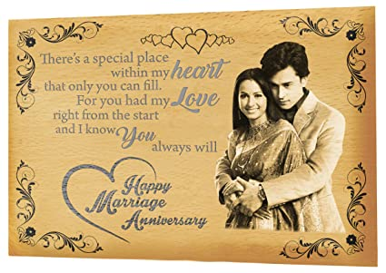 4907a3b7548 Buy Presto Best Anniversary Gift Personalised Engraving Photo Frame ...
