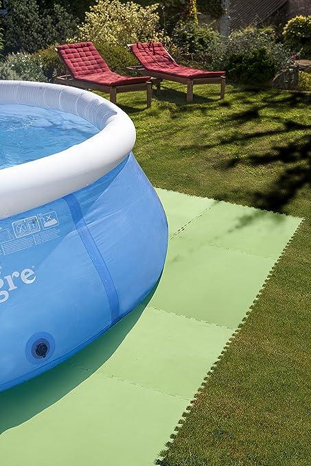 Que poner debajo de una piscina desmontable