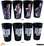 4-Pack 16oz GIFT SET - AMC's OFFICIAL The Walking Dead Novelty Pint Glass Gift Set with Negan, Daryl, Rick and Glenn (RIP)