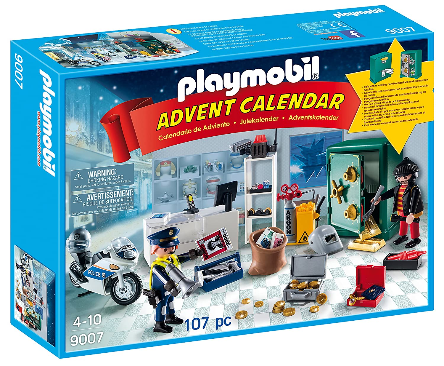 PLAYMOBIL® Advent Calendar - Jewel Thief Police Operation Playmobil - Cranbury 9007
