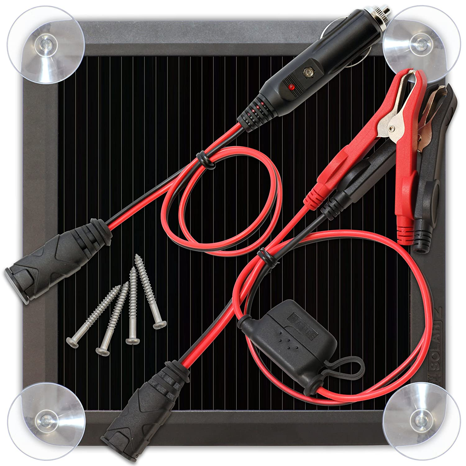 Noco Battery Life Blsolar2 25 Watt Solar Volt Meter Wiring As Well Panel Diagram Rv Charger And Maintainer Automotive