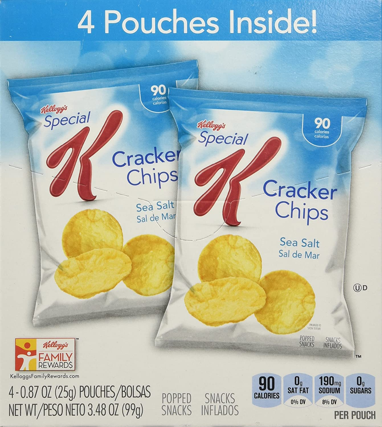 Amazon.com: Kelloggs Special K Special K Cracker Chips Snack Bags - Sea Salt - 0.87 oz - 4 ct