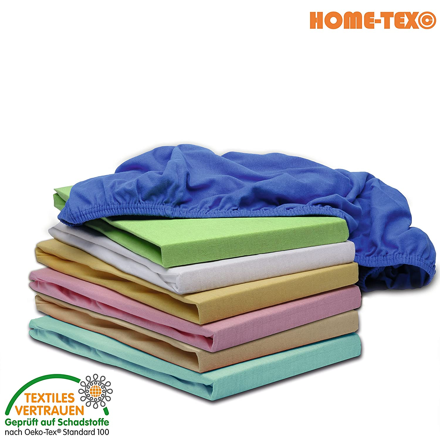 Home-Tex Children's Bed Sheet Fitted Sheet 70x 140cm Mattress Cover Fitted For Kids & Babies - | Oeko-Tex Standard Approved | Premium Quality 100% Cotton Home-Tex©