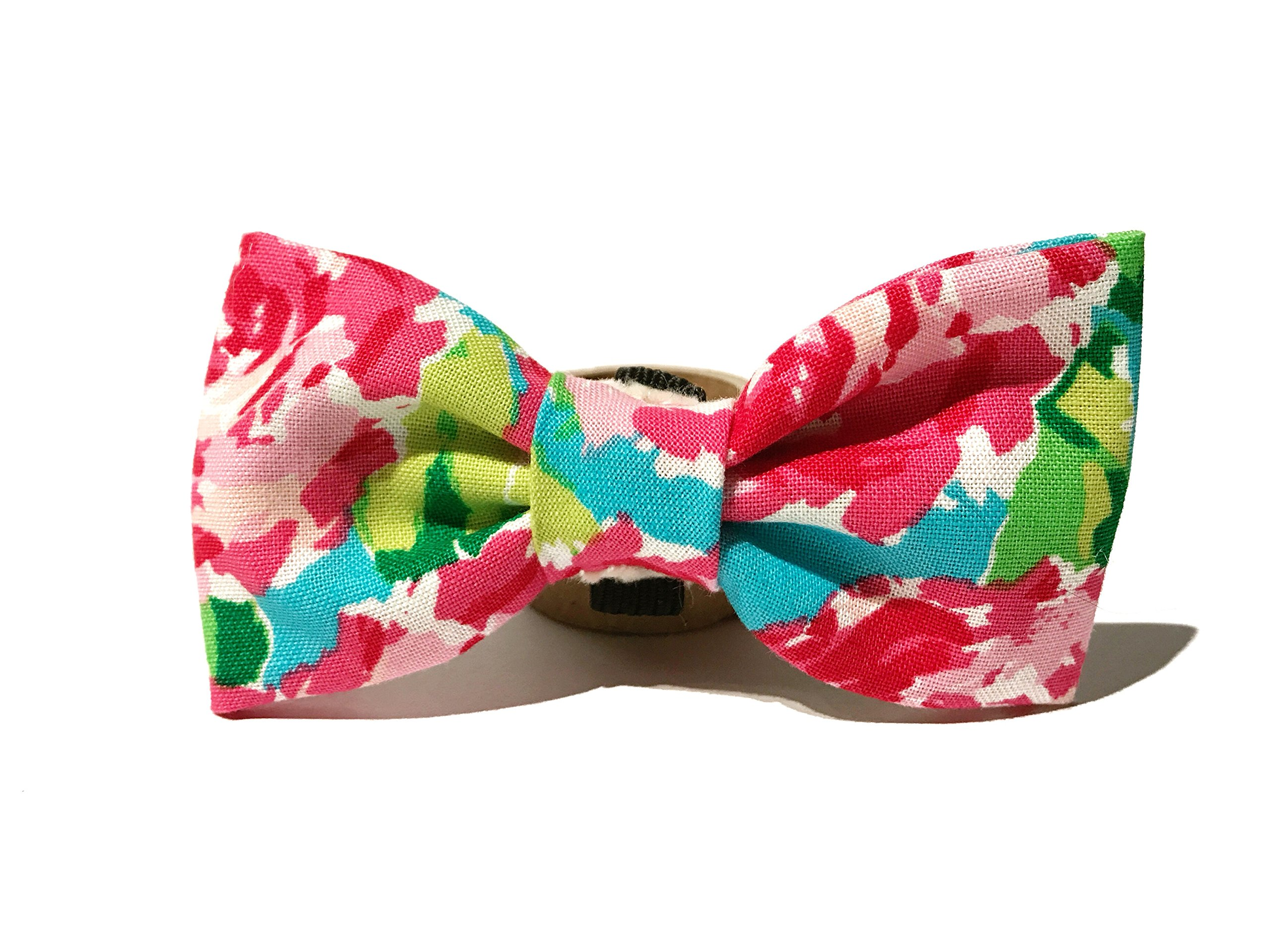 Very Vintage Design Dog Cat Collar Bow Tie Multi Color Hand Crafted Collection Organic Cotton Personalized Adjustable Pet Bowtie