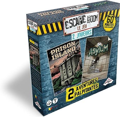 Riviera Games - Estuche Escape Room Le Juego 2 Jugadores, 5073, Asylum, Prison Island E Kidnappé: Amazon.es: Juguetes y juegos