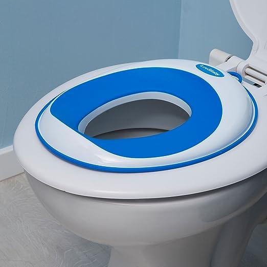 sichere rutschfeste Oberfl/äche Kinder-Toiletten-Training-Klobrille f/ür Jungen und M/ädchen UMSONST mitgeliefert: Haken mit Saugnapf zur Aufbewahrung Toiletten-Training-Sitz