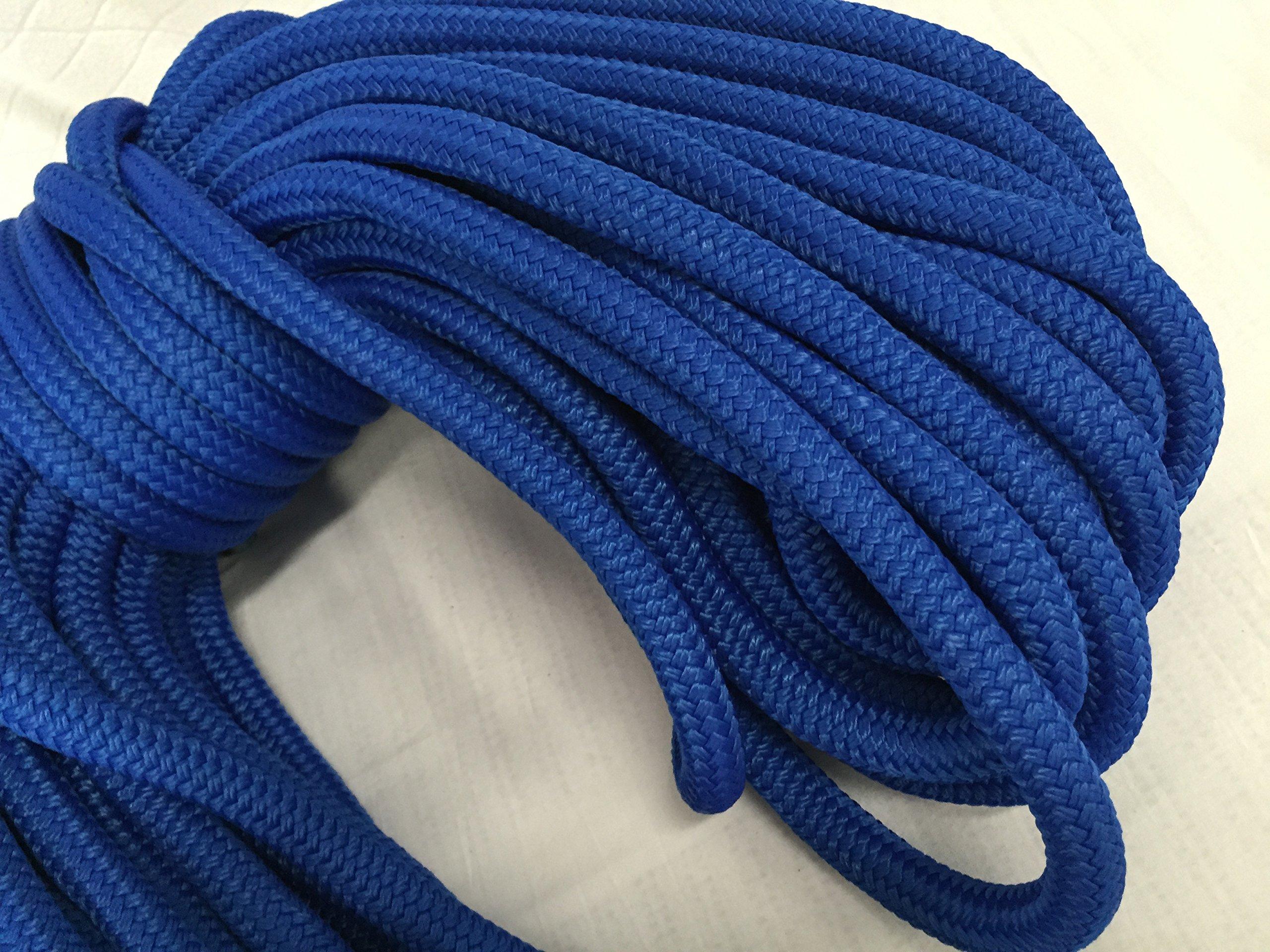 5/8'' x 150' Blue Double Braided Nylon Rope