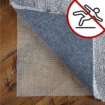 LILENO HOME Anti Rutsch Teppichunterlage aus Glasfaser (160x235 cm) Fußbodenheizung geeignete Teppich Antirutschmatte für Glatte und Harte Böden