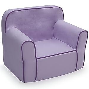 Delta Children Foam Snuggle Chair, Purple