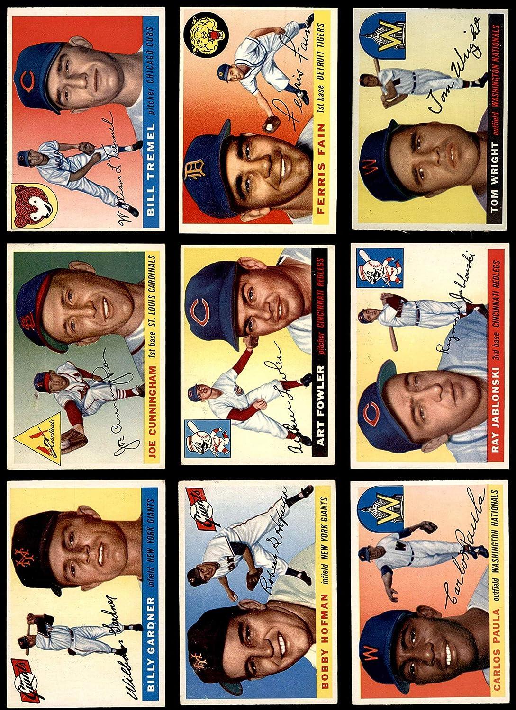 1955 Topps Baseball 50 Card Starter Set/Lot (Baseball Set) Dean's Cards 4.5 - VG/EX+