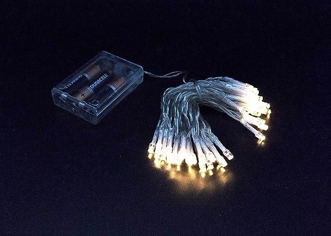 Miniled luci di natale led a batteria luce calda mt luci