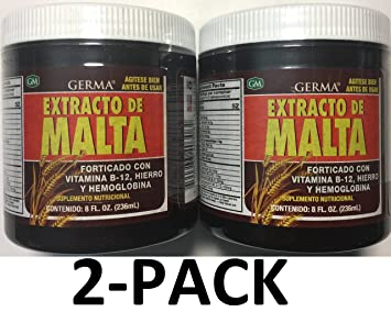 Germa Malt Extract with Vitamins Reinforced with B-12, 8 oz. 2-