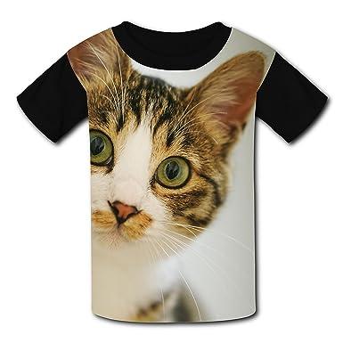 89f7667cd Curious Cat Naughty Kitten Custom T-shirt Tee Top for Kid Girl Boys XS