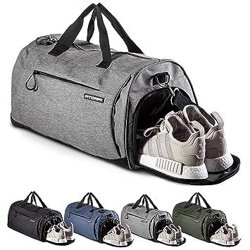 136984d80d8a4 Fitgriff Sporttasche mit Schuhfach und Nassfach - Sport- und Reisetasche  für Männer und Frauen -
