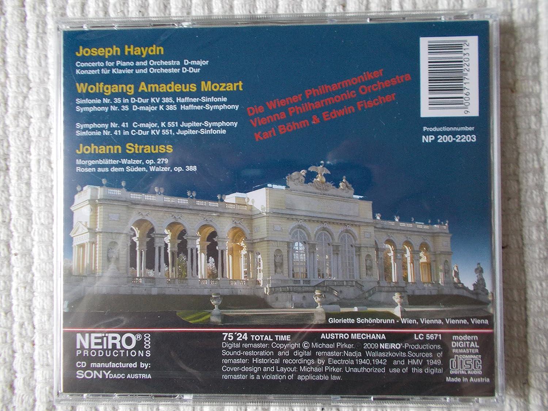 - Haydn: Piano Concerto / Mozart: Haffner Symphony and Jupiter Symphony / Johann Strauss: Waltzes - Amazon.com Music