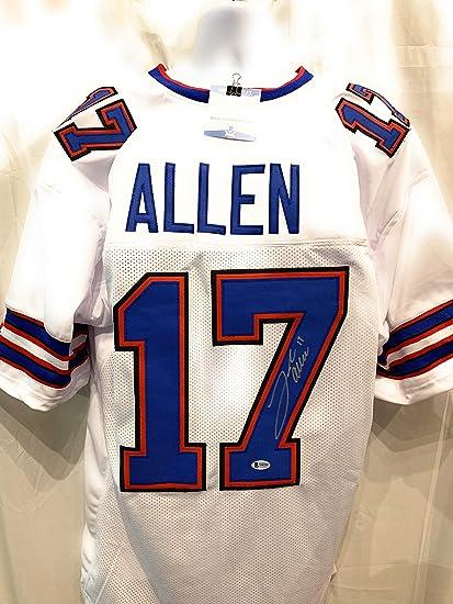 sports shoes 01c7e 90b0c Josh Allen Buffalo Bills Signed Autograph Custom Jersey ...