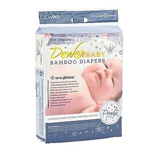 Dewor Baby Premium Bamboo Disposable Diapers