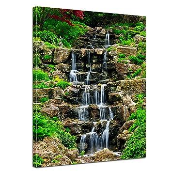 Kunstdruck - Wasserfall II - Bild auf Leinwand - 60 x 80 cm ...