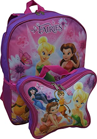 0ee06f015c5 Disney Fairies Tinkerbell   Friends 16 quot  Backpack W  Detachable Lunch  Box