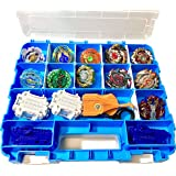 HOME4 Double Sided BPA Free Toy Storage Container - Compatible with Beyblade, Mini Toys, Small Dolls - Toy Organizer…