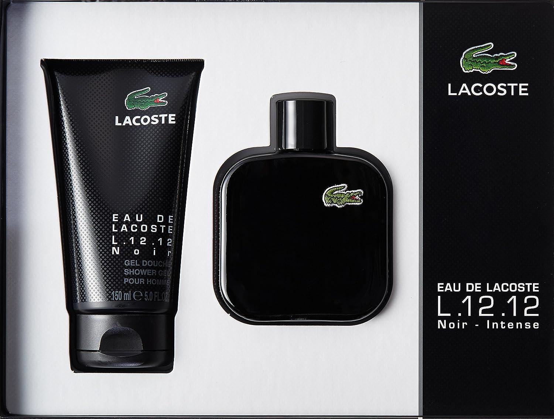 Amazon.com: Lacoste L.12.12 NOIR Eau de Toilette Spray, 1.35 ...