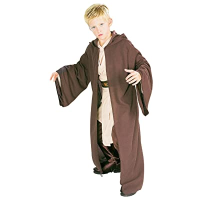 Rubie's Star Wars Classic Child's Deluxe Hooded Jedi Robe, Medium: Toys & Games