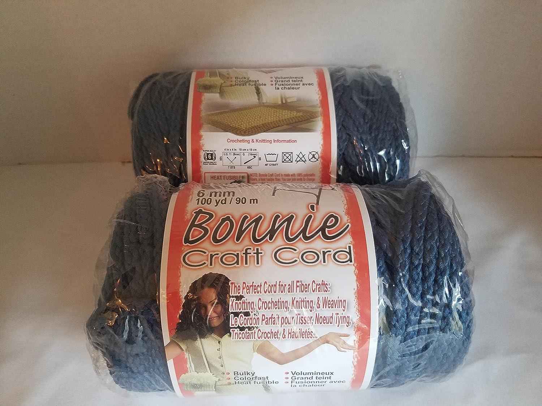 Bonnie Macrame Craft Cord 6mmX100yd-Prussian Blue