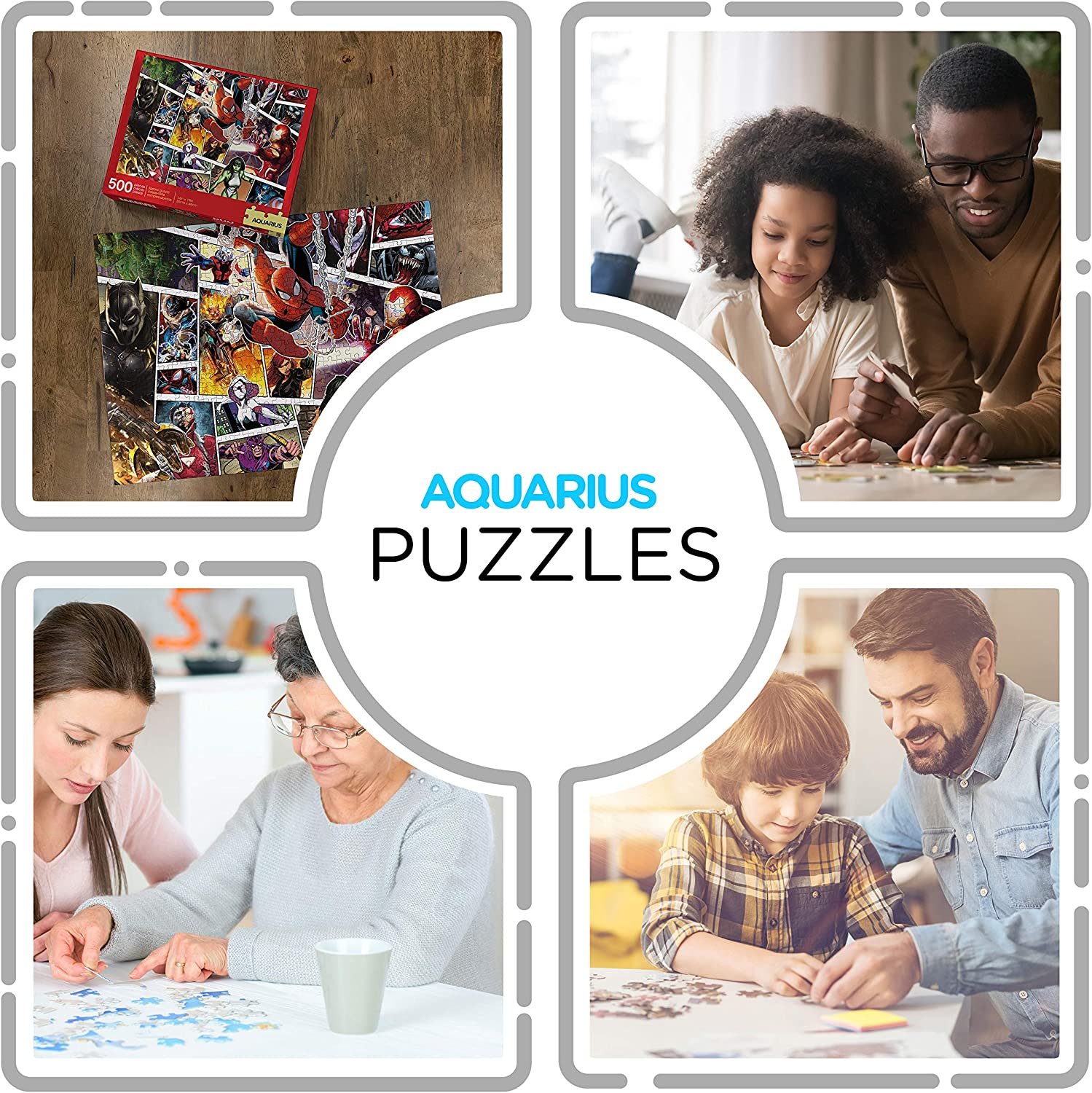 - Glare Free AQUARIUS Marvel Puzzle Virtually No Puzzle Dust 500 Piece Jigsaw Puzzle Officially Licensed Marvel Merchandise /& Collectibles 14 x 19 Inches Precision Fit