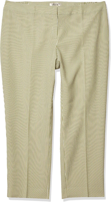 Kasper Women S Plus Size Stripe Seersucker Pant At Amazon Women S