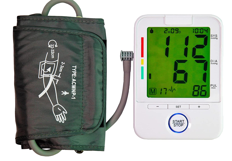 ... presión- Color lecturas precisas de la presión sanguínea, monitores normales de &Amp; pulso irregular / frecuencias cardíacas, con función de memoria.