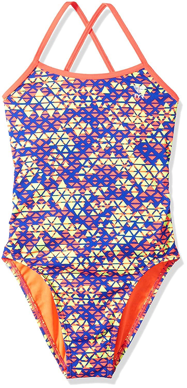 TYRレディースModena trinityfit水泳One Piece B076CNK2Z5 Size 38|レッド/イエロー