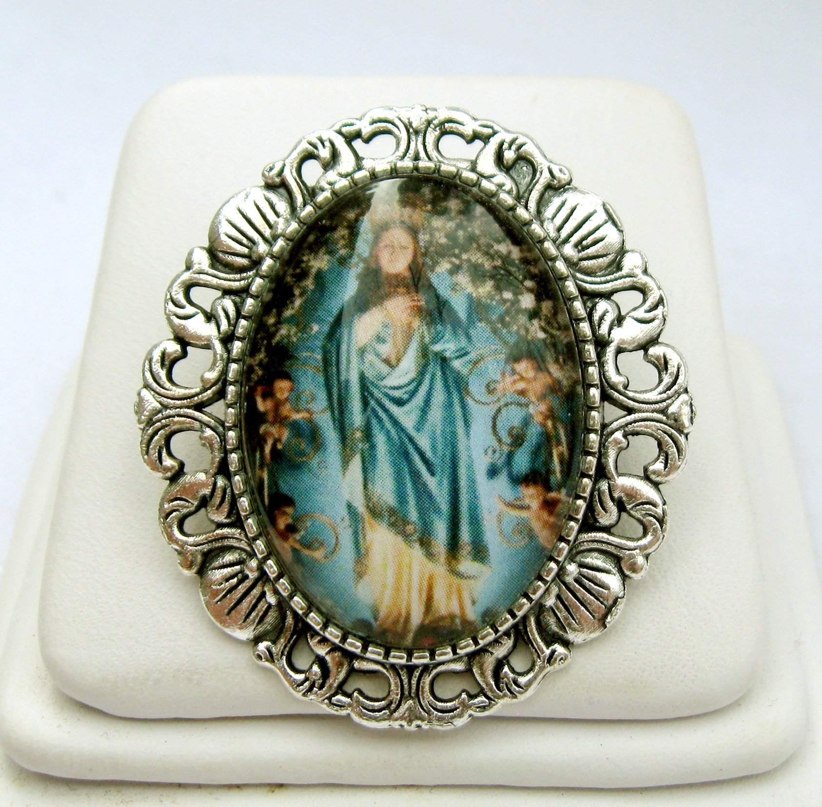 Mary, Mother of God convertible brooch/pendant - AP35-027