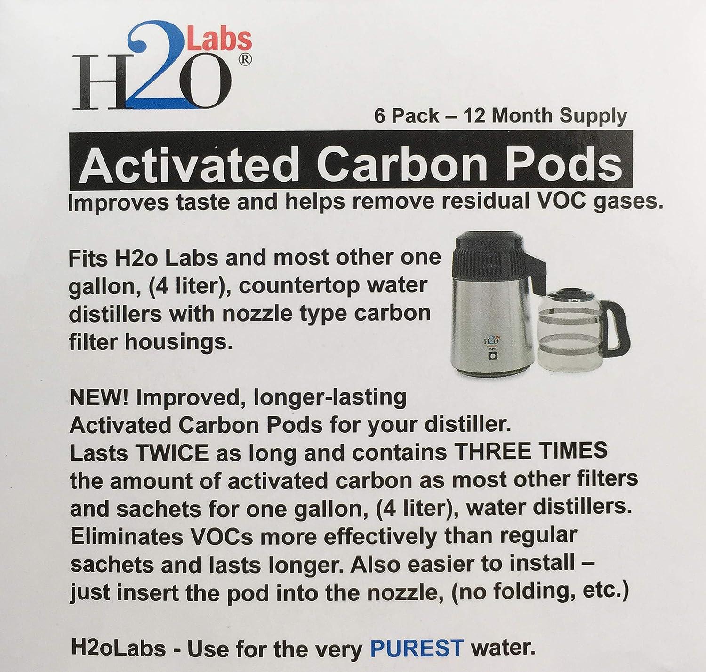 lot de 6 Filtre /à charbon actif dosettes de Mega pour leau Bouilleurs,