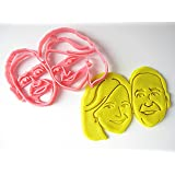 Custom Couple Face Cookie Cutter, Personalized with Lovers Portrait, for Bridal Shower, Engagement, Wedding, Anniversary, Retirement