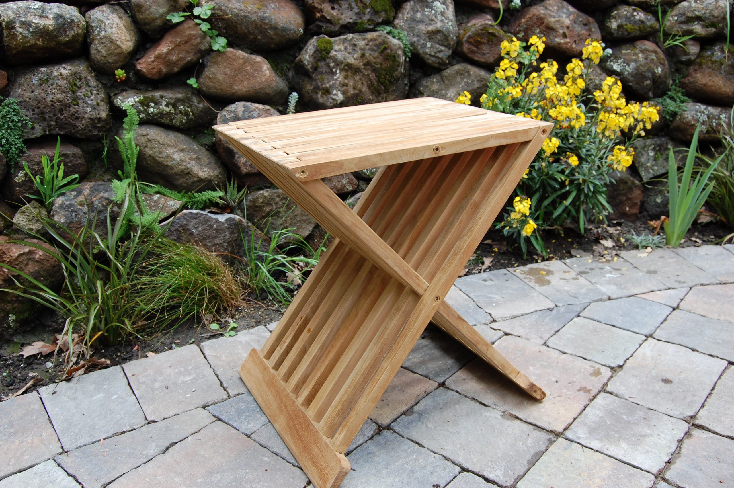 Teak Wood Folding Shower Seat, Bench, Stool - Bath, Sauna Seating