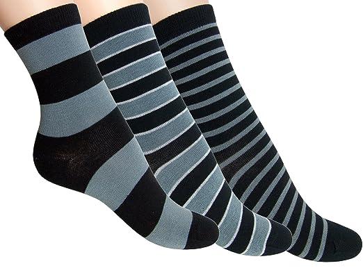 Loonysocks, 3 pares de calcetines de algodón de colores para mujer/ Calcetines combinados en