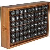 AllSpice Wooden Spice Rack, Includes 60 4oz Jars- Cherry