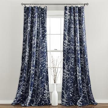 Amazon.com: Lush Decor Forest Window Curtain Panel (Set of 2), 84 ...