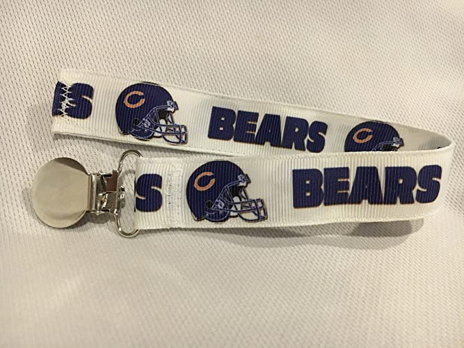 Amazon chicago bears pacifier clip chicago bears ribbon chicago bears pacifier clip chicago bears ribbon football pacifier clip baby shower negle Images