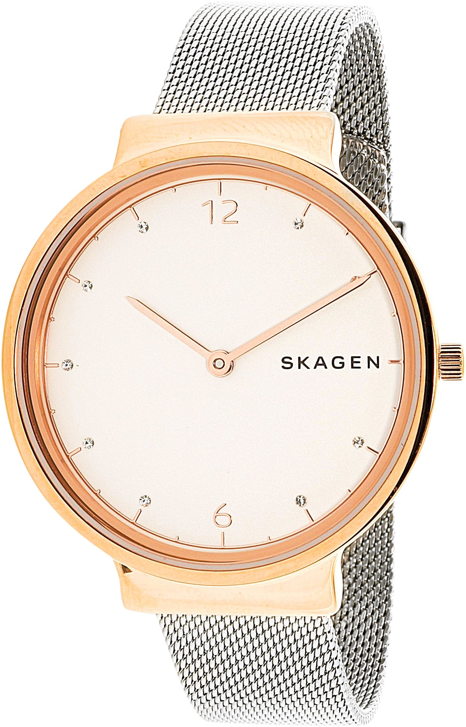Skagen  Women's  SKW1086 Ancher Steel-Mesh Watch and Katrine Necklace Box Set by Skagen